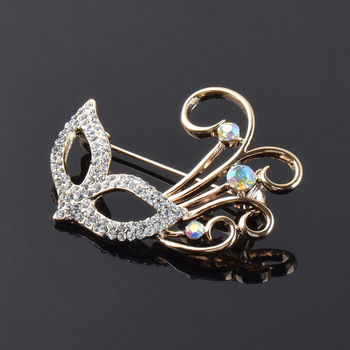 Mysterious Mask Indian Jewelry Wedding Invitation Wholesale Brooch