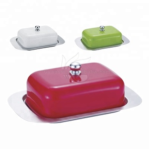 Butter dish BPA free stainless steel covered cheese keeper
