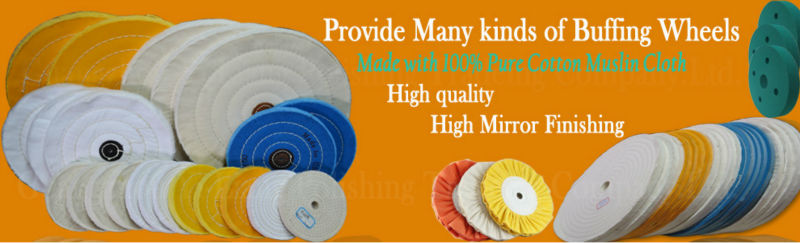 """6/"""" x 60 ply Leather center White loose unstitched cotton polishing buffing wheel"""