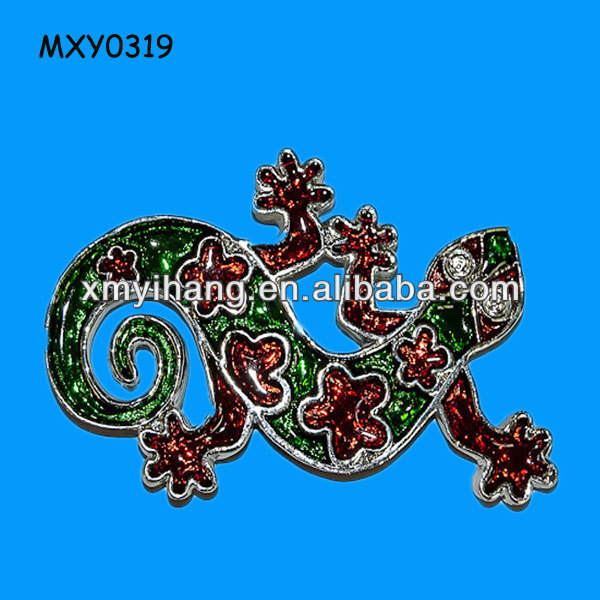 Vivid 3d resin gecko animal custom Fridge Magnet Wholesale