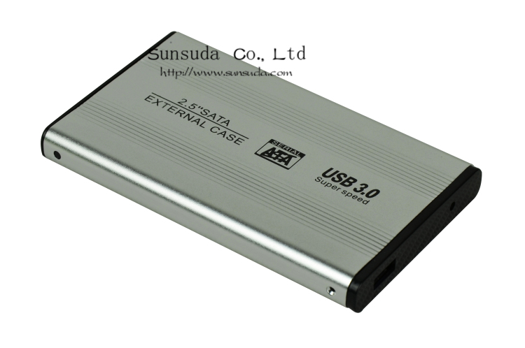 USB 3.0 Adapter Lan SATA 2.5 Inch HDD Enclosure Laptop Portable Hard Disk Aluminium Box