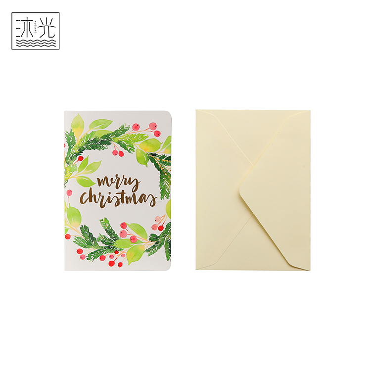 Factory Wholesale Custom Printing Best Withes Christmas Greeting <strong>Card</strong> And Envelope