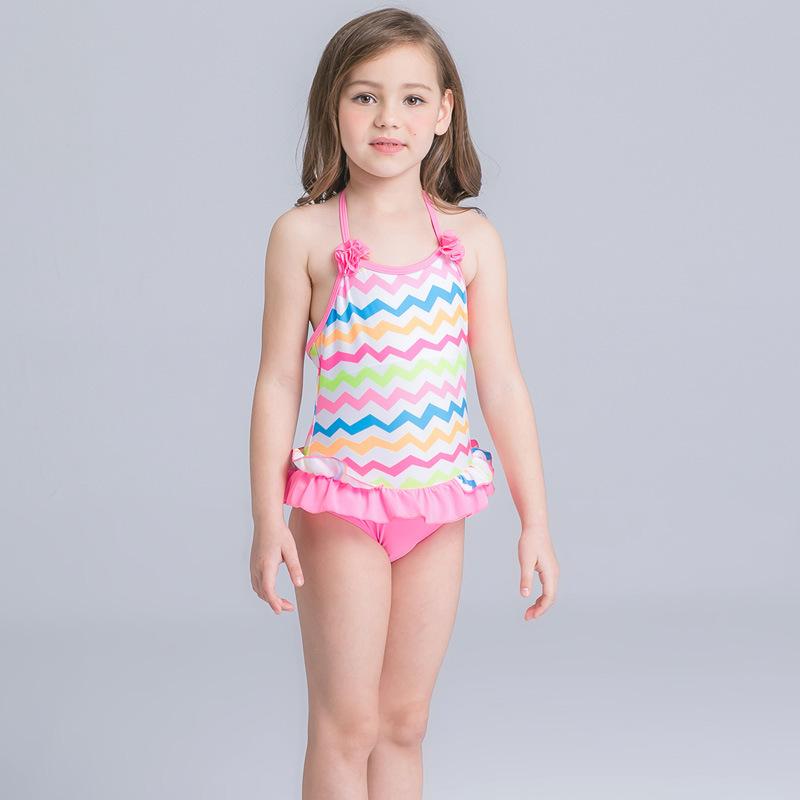 c018a94a3 HT-LGS الساخن بيع رخيصة الفتيات قطعة واحدة الأطفال أطفال ملابس السباحة لطيف  طفل بيكيني