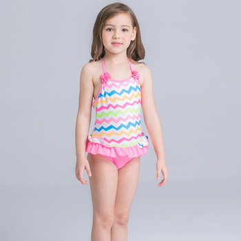 1f5a561a774 HT-LGS hot sale cheap girls' One Piece Swimsuit cute children kids swimwear  baby