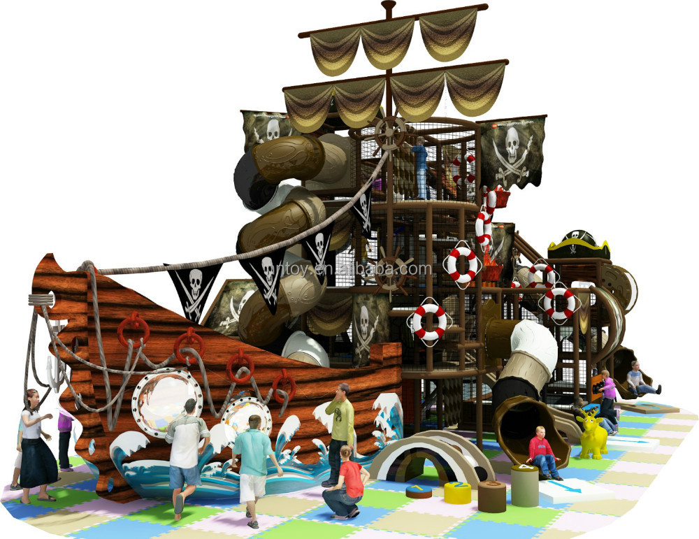 NANNAN baby pirate ship theme indoor playground for sale