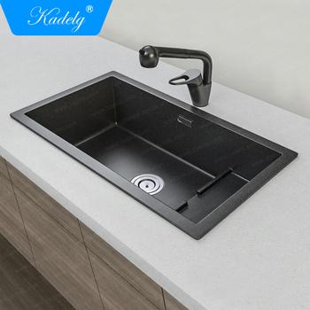 China Supplier Restaurant Utility Items Black Composite Granite Kitchen Sink Buy Granit Kitchen Sink Komposit Kitchen Sink Hitam Kitchen Sink Product On Alibaba Com