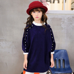 Baby Girl Dress Fashion Spring Autumn Princess Girl Long Sleeve Sweater Dress Kids For Girls