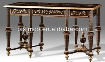 Louis XV French Style Vintage Luxury Hand Painted Console Table Hall Foyer  Sofa Table Wooden Carved
