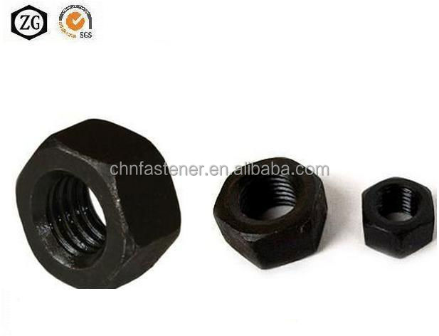 A194 2H Heavy Hex nut black oxide