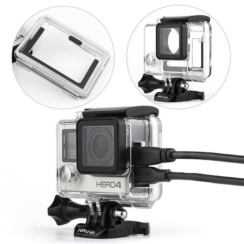 ST-33 Skeleton Protective Housing with UV-Protected Lens for Gopro HERO2 Open Side for FPV Without Cable Durable