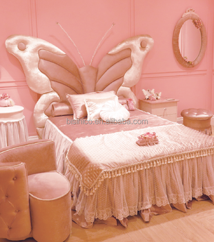 Girlu0027s Bedroom Furniture, Butterfly Style Kids Bed, Children Butterfly Bed