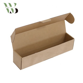 Corrugated kraft paper long flowers packing delivery shipping box