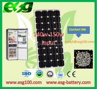 140w Solar System with Monocrystalline solar panel price per watt solar panels For Home Use solar