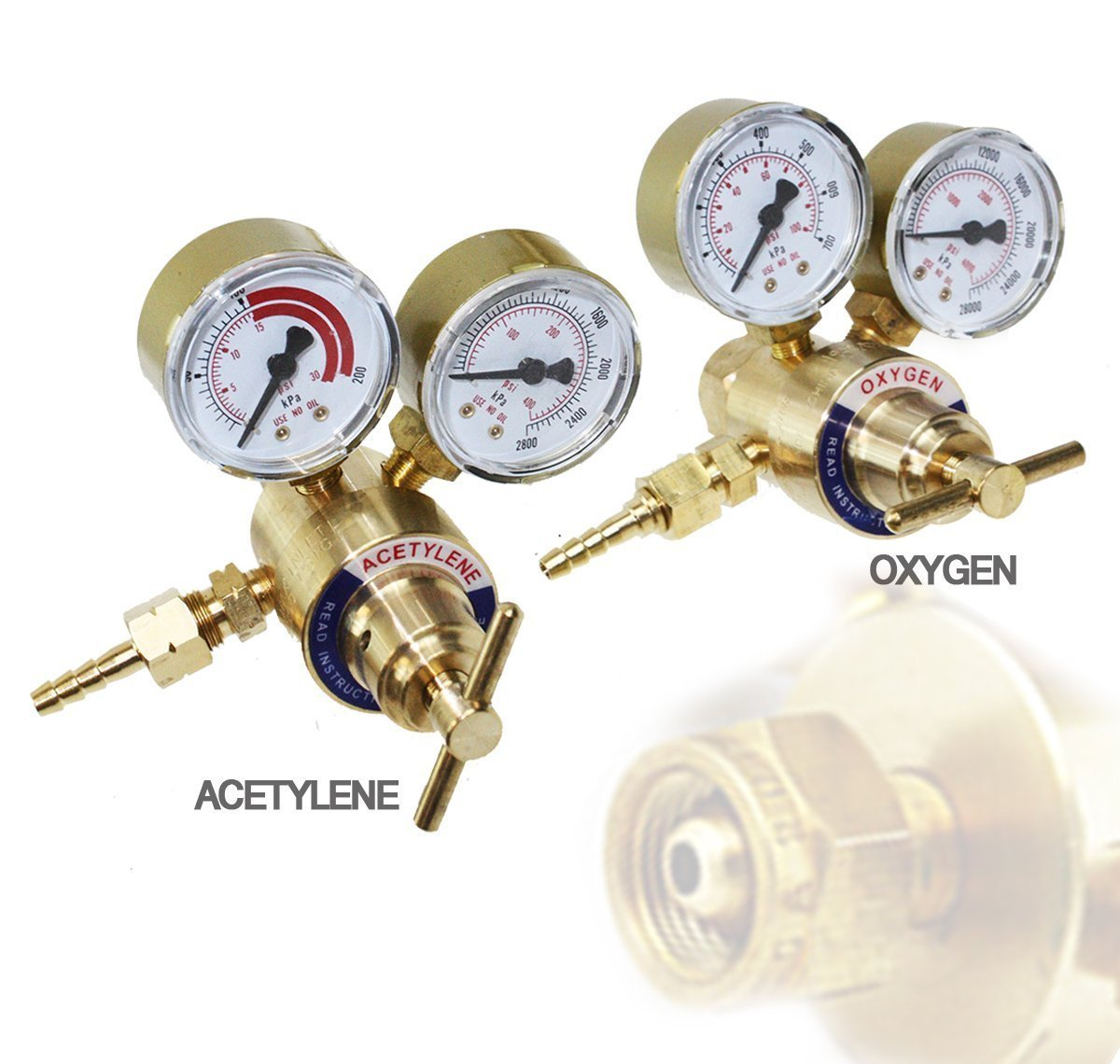 Get Quotations · Solid Brass Oxygen and Acetylene Regulators 4 Welding  Victor Gas Torch Cutting d1c1c13b5