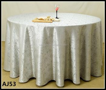 Wedding Custom Decorative Fancy Rose Design Round Table Cloth Cheap Elegant  Table Cloth