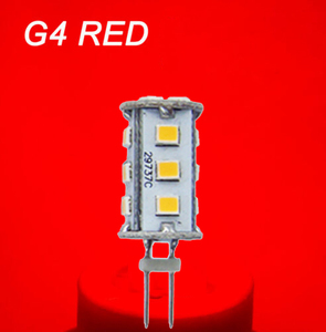 RED / Blue / Green 12V 24V 10-30V Mini Tower 360 Degree All Around G4 LED Light Lamp Bulb