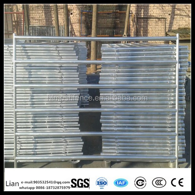 1.6mx 2.1m galvanized horse used livestock panel fencing round pen panel