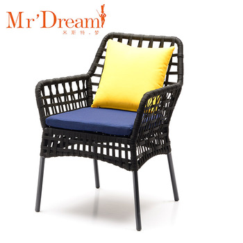 Whole Black Outdoor Woven Lawn Chair