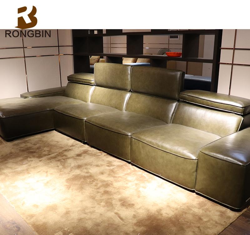Italy Imperial Venice Leather Furniture Modern Blair Nova Leather Sofa With  Adjustable Headrest ...