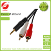 3.5mm Stereo Female to Dual 2 RCA Male F-M AV Audio Aux Video Cable Cord.j