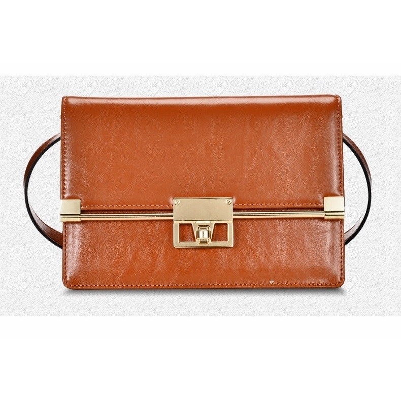 Genuine leather women messenger bags ladies, new arrival high quality small brown bag, leather small shoulder bags for women,