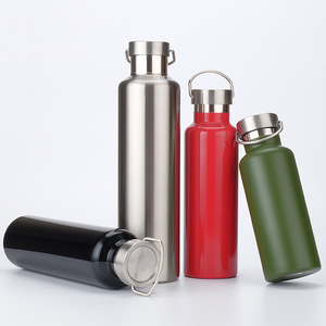 350ml/500ml/600ml/750ml/1000ml Double Wall Insulated Stainless Steel Water Bottle Keeps Drinks Hot and Cold for Outdoor Sports