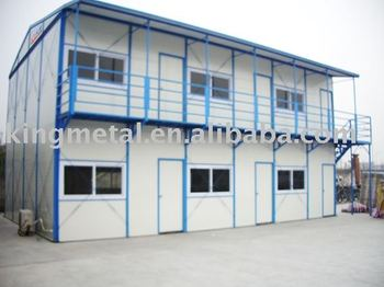 light steel structure two floor prefab house