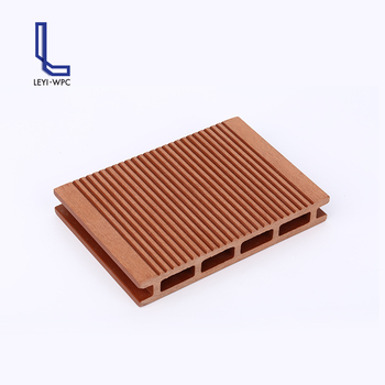 Non Fading Outdoor Decoration Wood Plastic Patio Floors