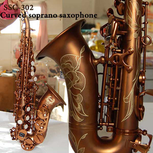 Sopranino saxophone brown plated made in china with cheap price