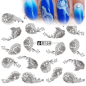 B001-096 Pattern 12 in 1 Snow Flake Flower Beard Mustache Nail Art Water Sticker Decals Polish Decorations French Manicure