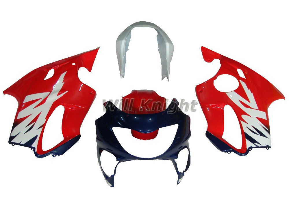 Motorcycle Side Panel for Honda CBR600F4 CBR 600 F4 1999 2000 Fairing Red White Blue