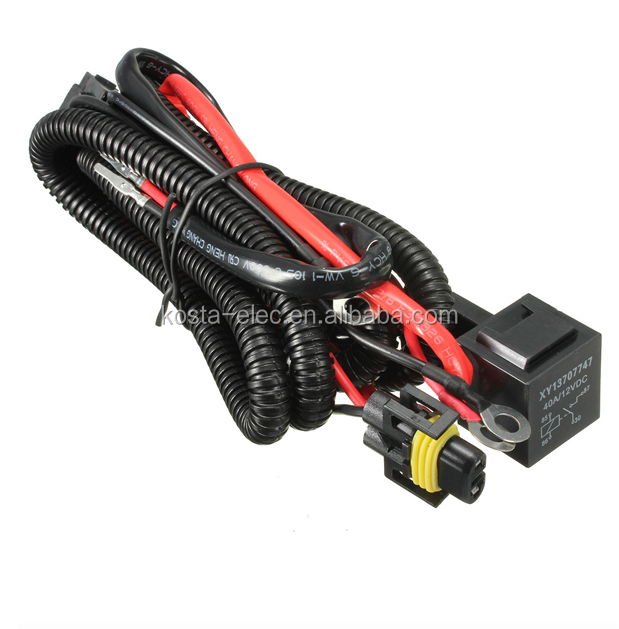 H11 880 Relay Wiring Harness Xenon Hid Conversion Kit Car Fog Lights H K Hid Wiring Harness on