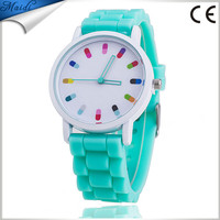 Hot Sale Classic Style Geneva Silicone Jelly Watch Women Fashion Casual Beautiful Color Quartz Watch Wrist watch GW005