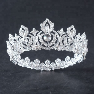 Wholesale Full Round Crystal Pageant king crown
