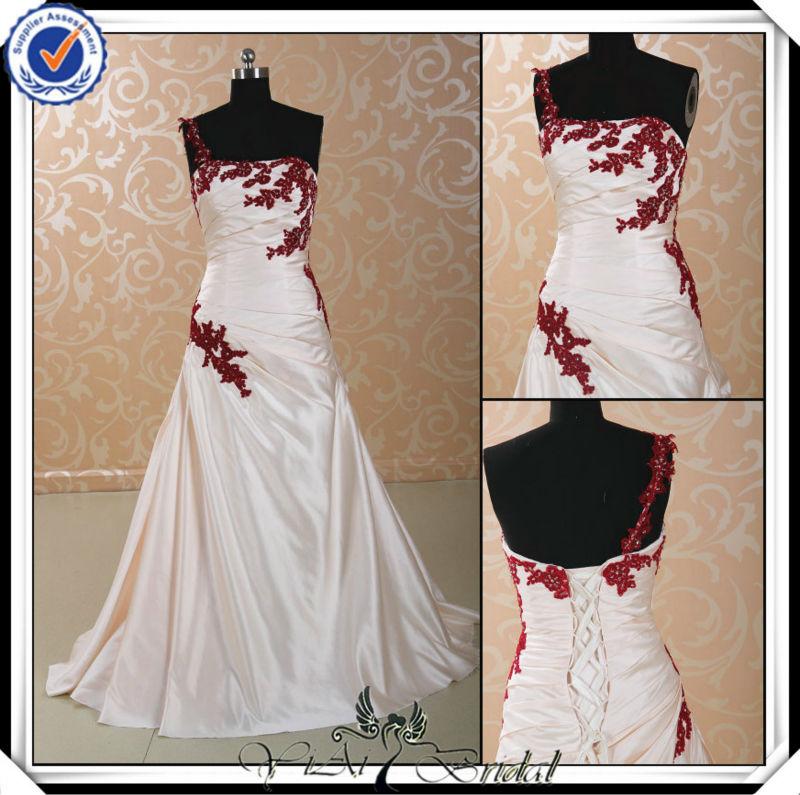 Vestidos de novia rojo vino