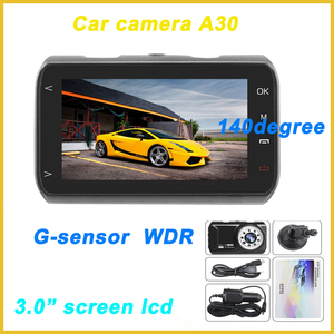 "solar car camera,WDR G-sensor car security camera motion detection,3.0""screen lcd car backup camera"