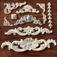 Wooden Carved Appliques Wall Embeshments Onlays Hot Sale Wood Carvings