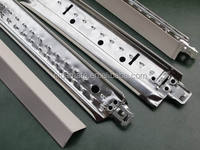Hot sale China factory Plain/ flat Ceiling t grid / tee bars/t bar for ceiling with alloy end