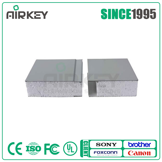 Clean room 100mm eps sandwich panel for wall ceiling and roof