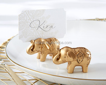 Wedding Favors Gold Lucky Elephant Place Card Holders