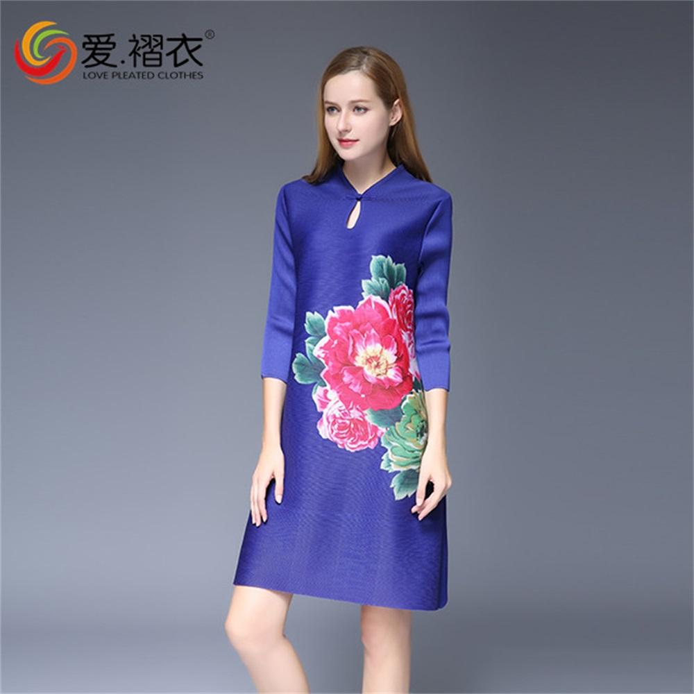Bonito Vestidos De Dama De Impresión Floral Imagen - Vestido de ...