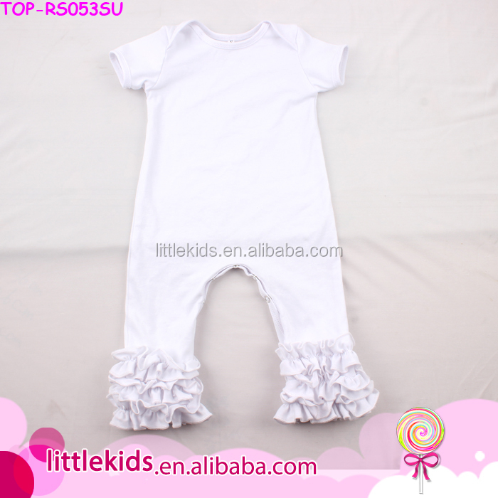 2017 In Stock Lap Shoulder Baby Romper Jumpsuit Summer Ruffle Romper