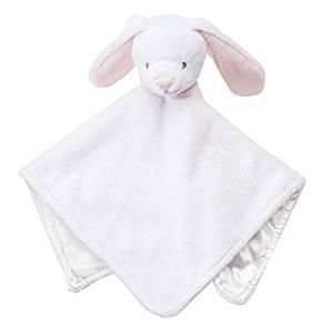 Carter's Baby Girl Boy White Bunny Rabbit Security Blanket, Lovey