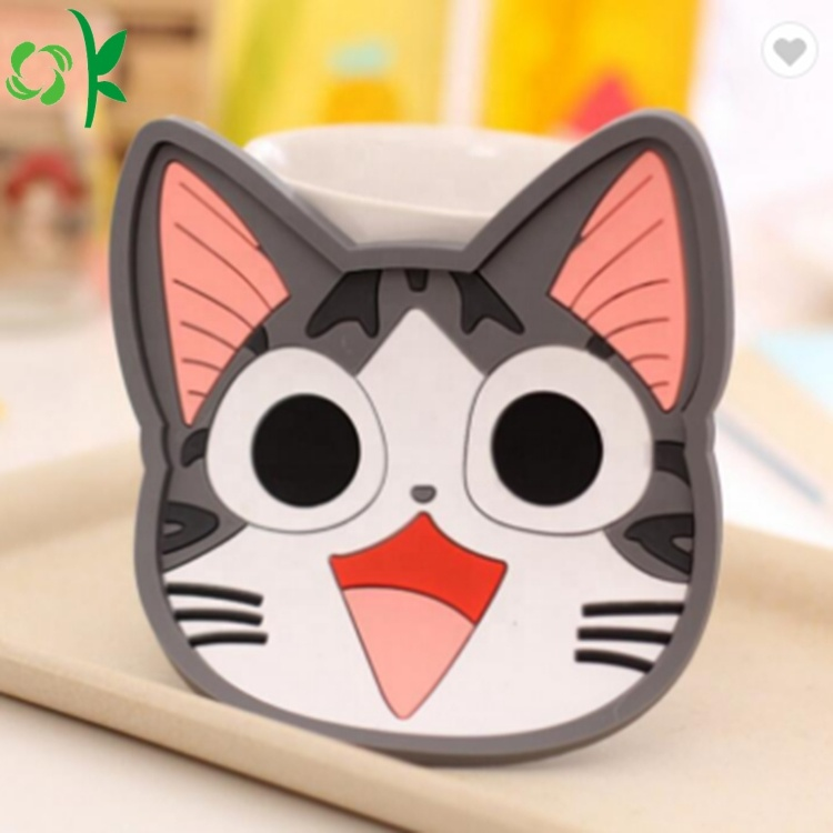 Popular Cartoon Silicone Cup Coaster For Heat Resistant