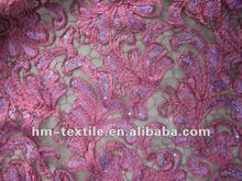 2012 Newest design sequin emibroidery fabric