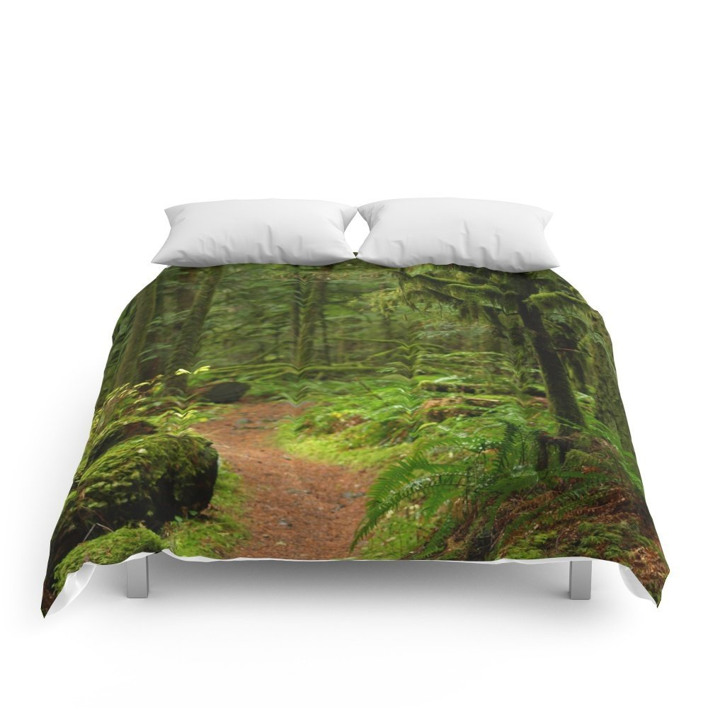 """Society6 The Deep Woodland Path... Comforters Queen: 88"""" x 88"""""""
