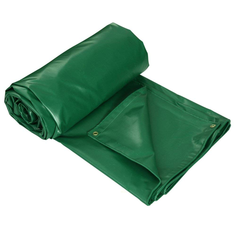 Xiaomei,Tarps Multi-Purpose Tarpaulin Double-Sided Waterproof UV-Resistant for Ground Sheet Cover -Green - 450g/m2 Tarpaulin