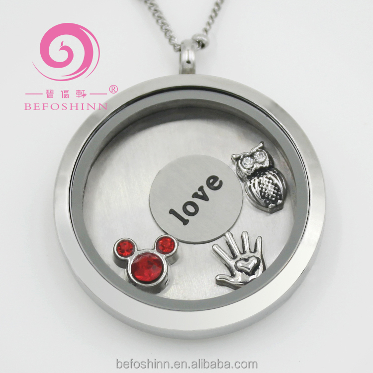 Wholesale <strong>fashion</strong> and healthy jewelry stainless steel glass DIY memory locket
