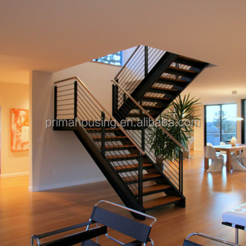 Ordinaire Residential Customized Steel Stair Stringer Solid Wood Steel Staircase  Design