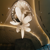LED big project luxury lighting flower shade